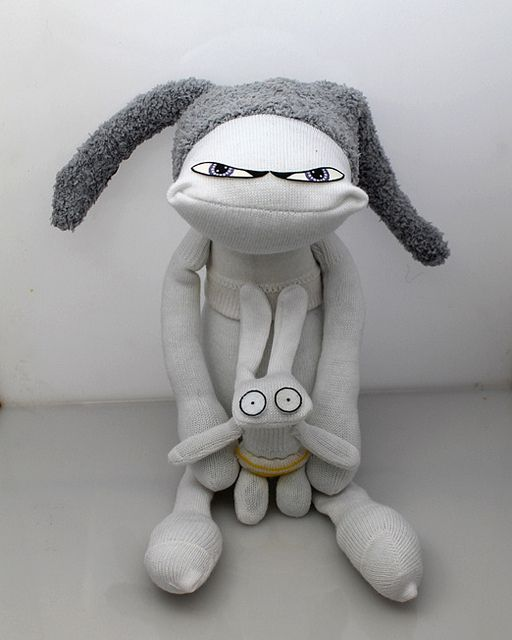 Socks dolls by boo-ba dolls, via Flickr