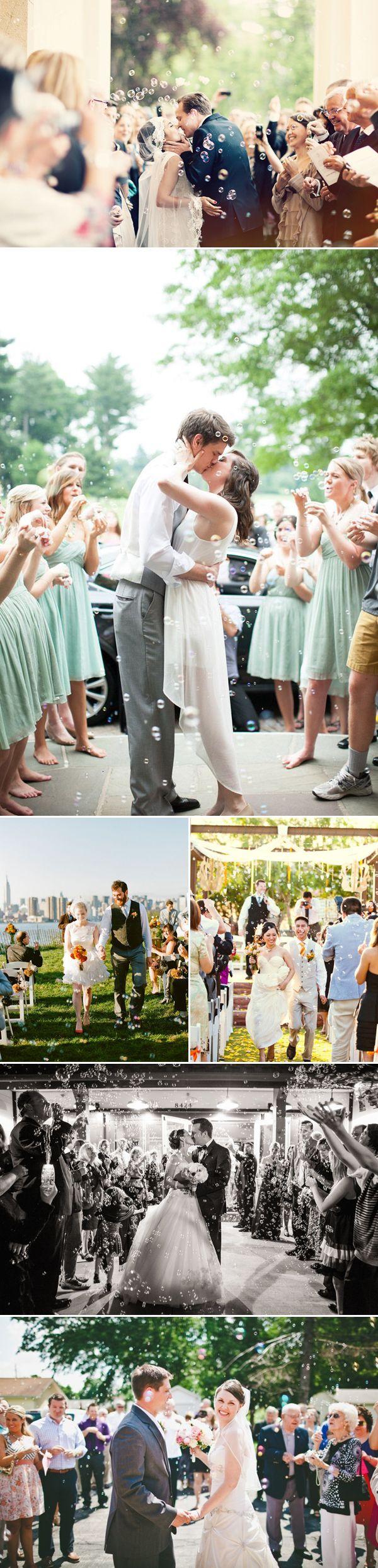 "Bubble Wedding Exit Ideas   |   ""30 Creative Wedding Exit Ideas"" (http://www.praisewedding.com/archives/2775)"