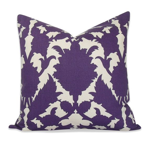 Thomas Paul Silhouette Purple Pillow Cover   SAME by OhMyPillow