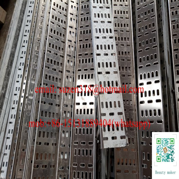 """slot hole 3"""" wide punctured sheet channel for cable tray protection"""