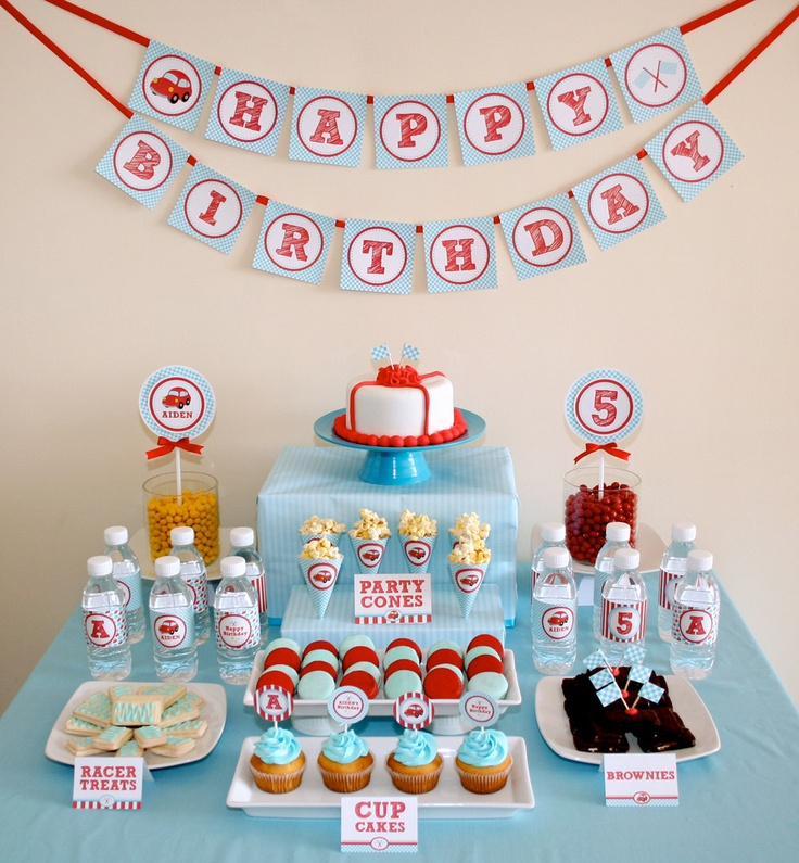 ... car birthday party! on Pinterest  Car party, 3rd birthday parties and