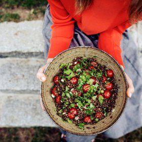 Čočkový salát s rajčaty a koriandrem Foto: