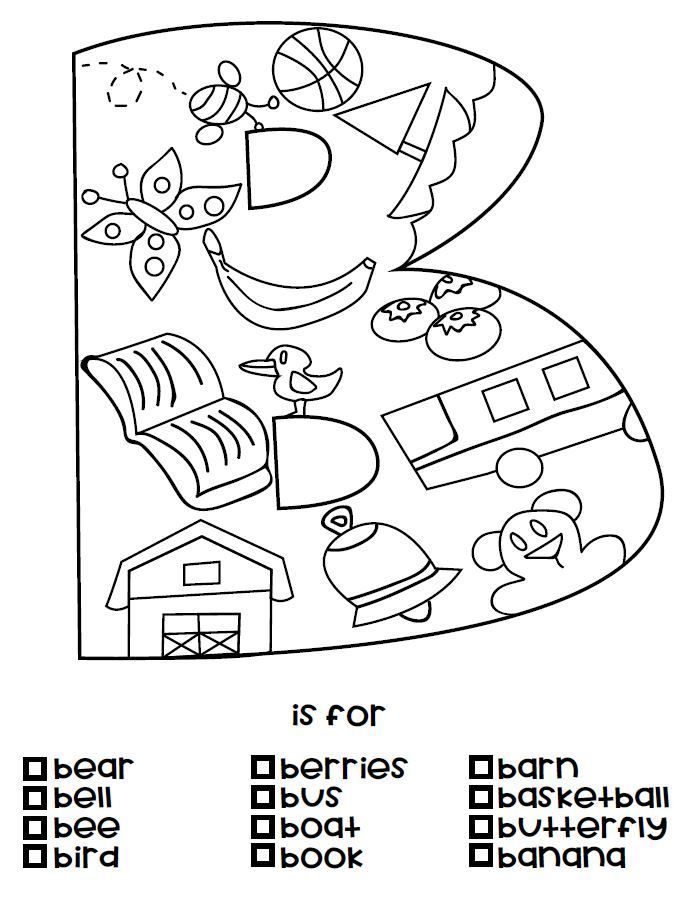 B Is For Coloring Page From The A Is For Alphabet Coloring Page Set Sneak Peek Alphabet Coloring Pages Alphabet Coloring Coloring Worksheets For Kindergarten