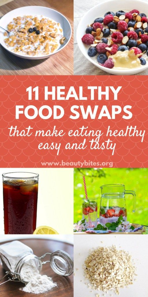 If you're trying to eat healthy, but are feeling overwhelmed, don't worry! With these 11 easy healthy food swaps you can make the best healthy choices and get healthy without feeling deprived (or miserable) during your health journey! If your goal is to lose weight and get fit these swaps will help you reach your ideal weight and keep it!