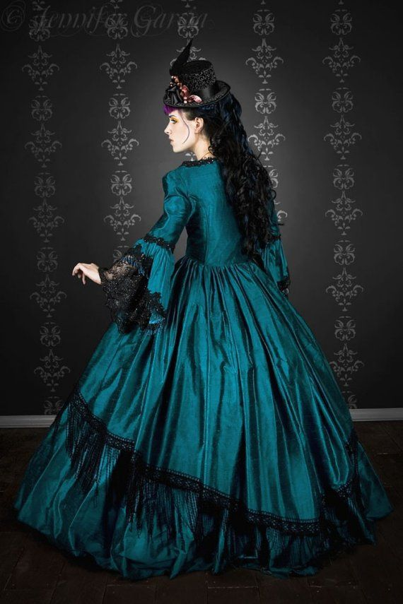 Gothic Marie Antoinette Peacock Fantasy Gown by RomanticThreads