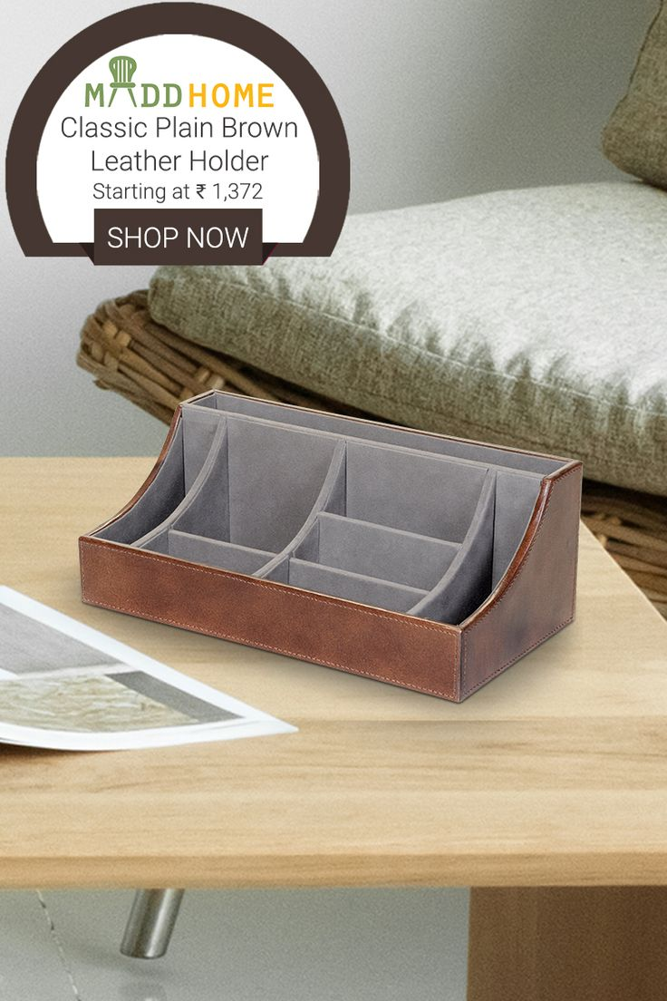 Update your work space with this contemporary & luxurious looking brown #leather #holder.