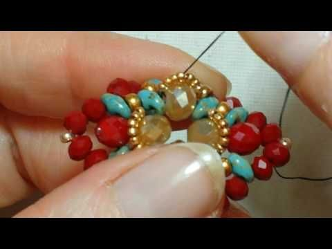 DIY : Tutorial Anello Fiocco | MissGiuliaa | come fare un anello con le perline e bicono - YouTube