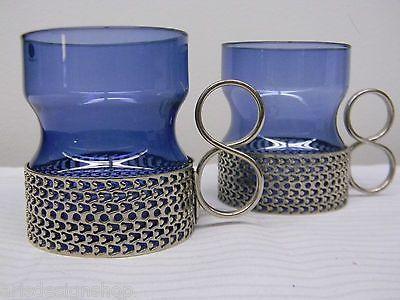 Iittala Timo Sarpaneva 2 * Vintage Tsaikka Blueberry glass Finland RARE