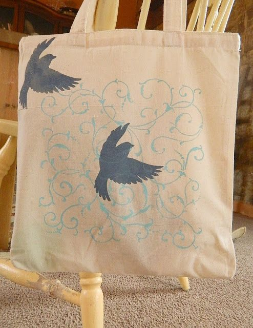 The Shed by Pet Scribbles: How to Stencil a Canvas Tote Bag