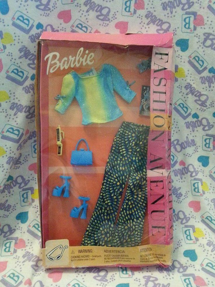 Barbie Fashion Avenue - Blue Yellow Green Rock Concert Clothes - 2002 Mattel #Mattel