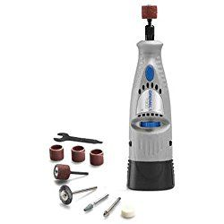 Dremel 7300 Minimite Cordless Review - we review this 4.8 volt small cordless Dremel rotary tool incl. battery, accessories, kits + what it's good for