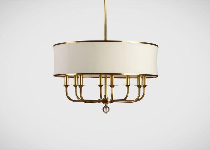 Zoe eight light brass chandelier
