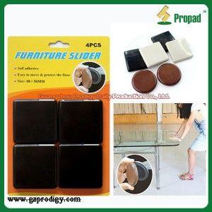 Heavy Duty Floor Protector Pads Furniture Slider Adhesive Gliding Pads  S1F50 Furniture Slider, Teflon Furniture