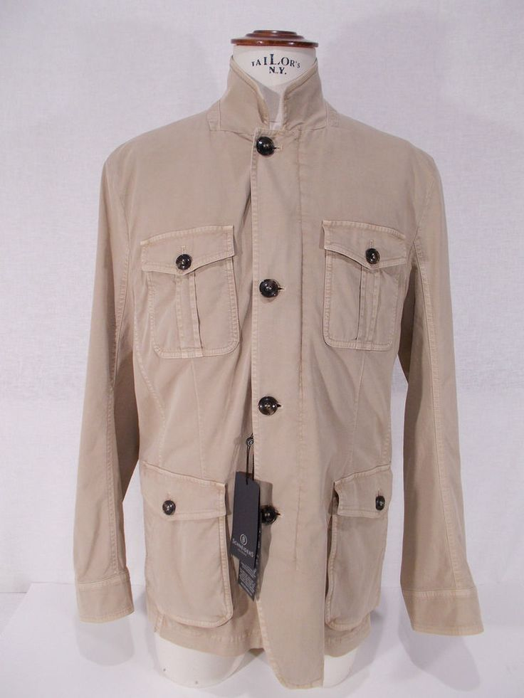 NWT SCHNEIDERS giacca SAHARIANA uomo COTONE jacket P/E tg. 52-54-56-58-62(IT)