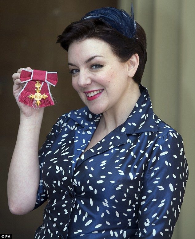 Sheridan Smith is 'overcome with emotion' as she receives an OBE #dailymail