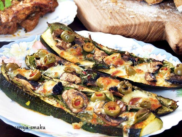 Cukinia z grilla #food,#grill,#cukinia,#oliwki,#ser,