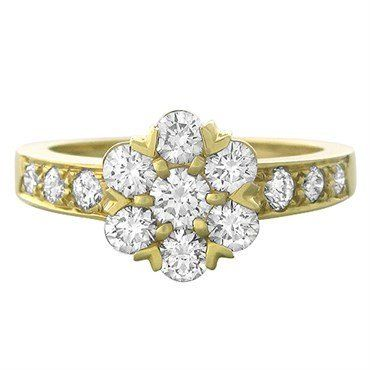 Metal: 18K Yellow Gold Gemstones/Diamonds: Diamonds - Approx. 1.18ctw…