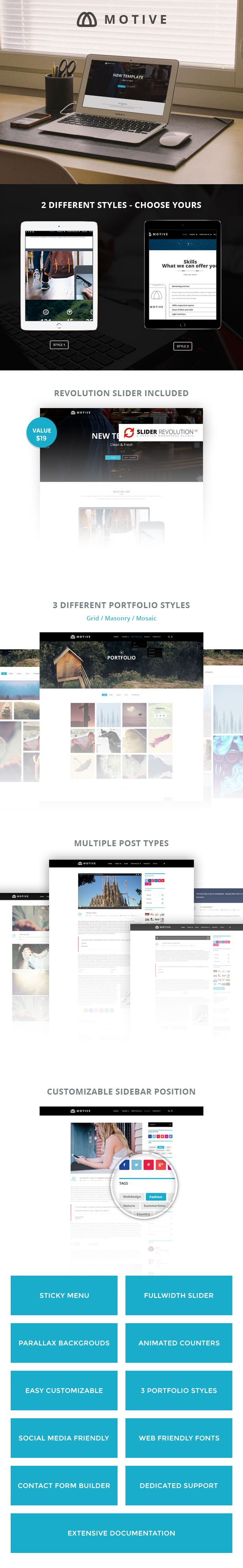 Motive – Creative Portfolio WordPress Theme