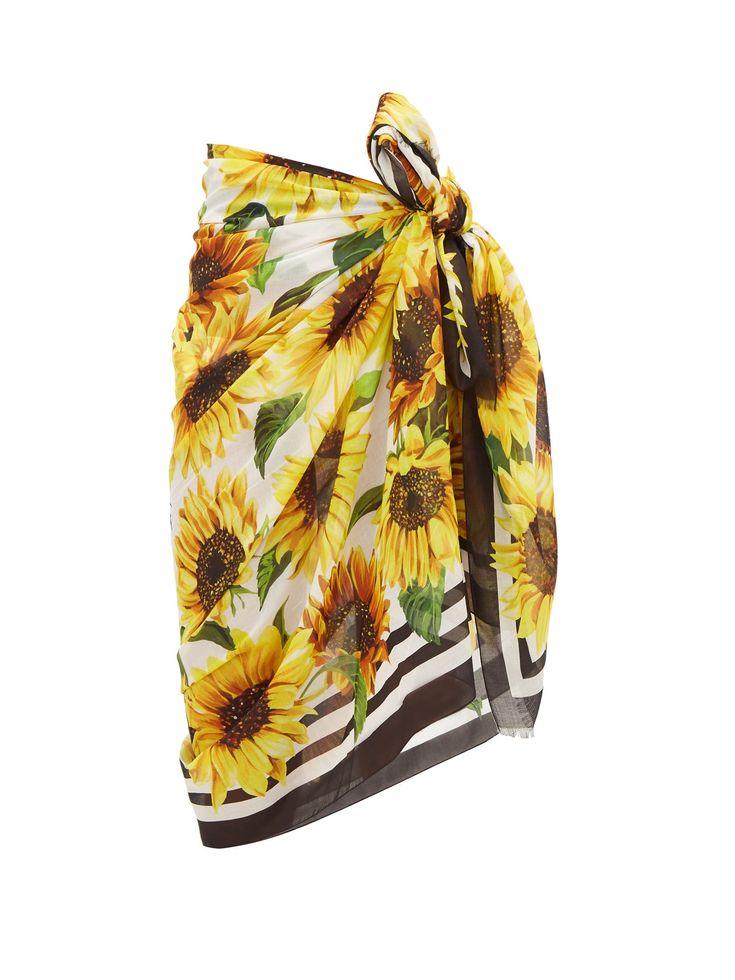 Sunflower-print cotton sarong | Dolce & Gabbana | MATCHESFASHION.COM UK