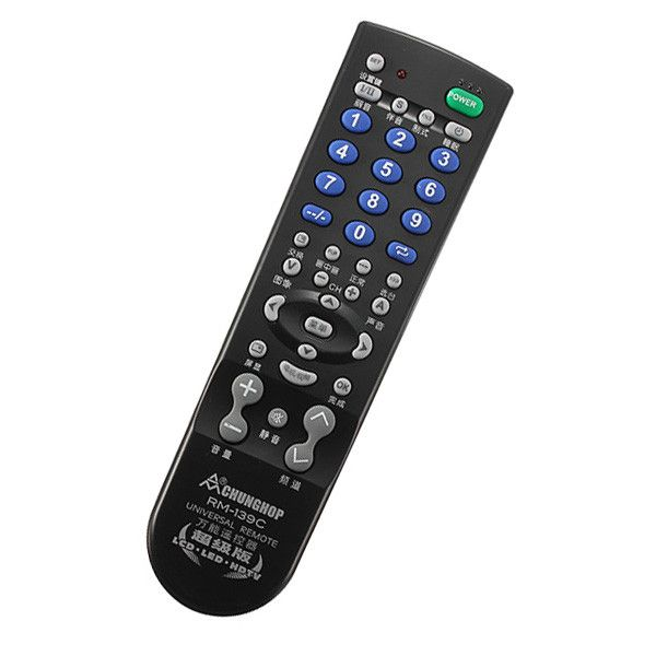 Universal Tv Remote Control Controller For Multiple Brands Tv Sets. Universal TV Remote Control Controller For Multiple Brands TV Sets  Description:  Novel universal TV remote control RM-139C Super Edition is a novel universal TV remote control, 39 button design, commonly used function keys comprehensive upgrade (channel selection, switching, PIP, images, etc.), use of new low-power chip. Easy to operate, durable and practical, is the best choice for  your TV remote control no matter lost…