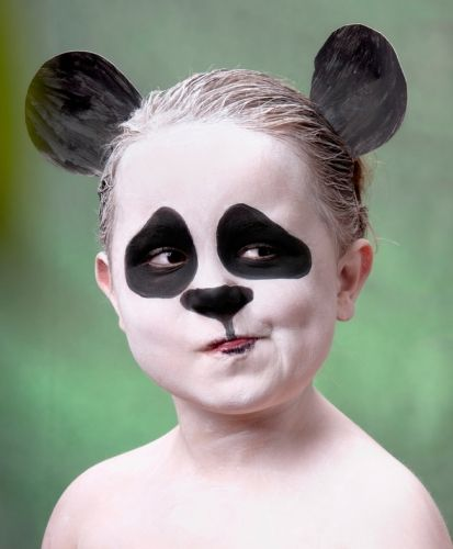 halloween-face-makeup-ideas-kids-little-panda-bear