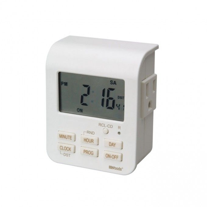 For the towel warmer...Heavy Duty Indoor Digital Timer with Two Outlets