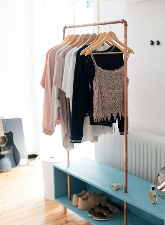 DIY Closet macht die Organisation zu Hause praktischer