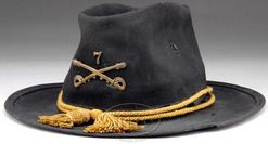 Indian Wars Cavalry Hat | Cavalry Campaign hat, Model 1876, Indian Wars Period, cord and ...