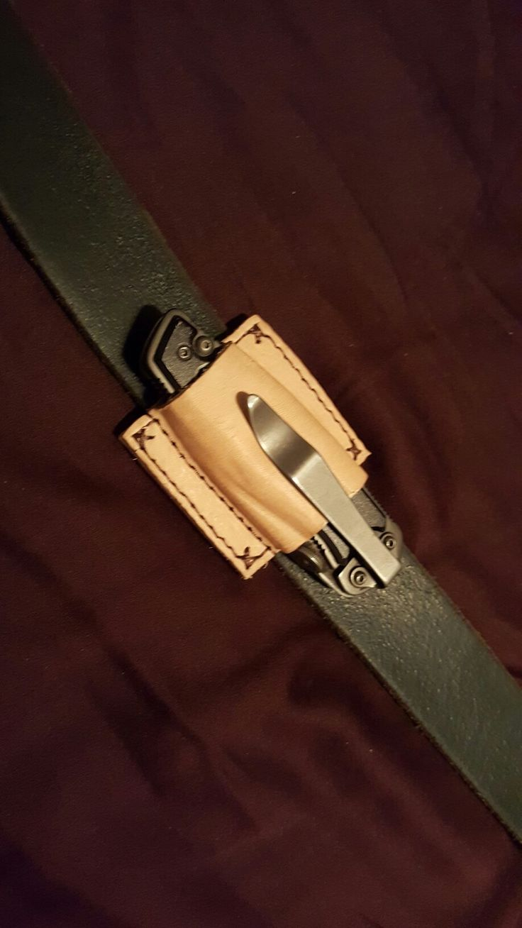 Custom EDC pocket knife holster diy homemade
