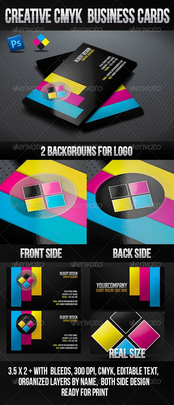 48 best cmyk images on pinterest business card design business creative cmyk business card reheart Gallery