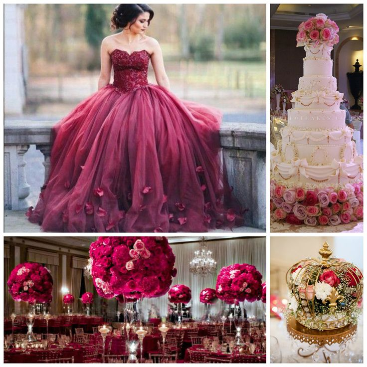 Burgundy Theme | Quinceanera Ideas | Quinceanera Party Planning | Quinceanera Cake |
