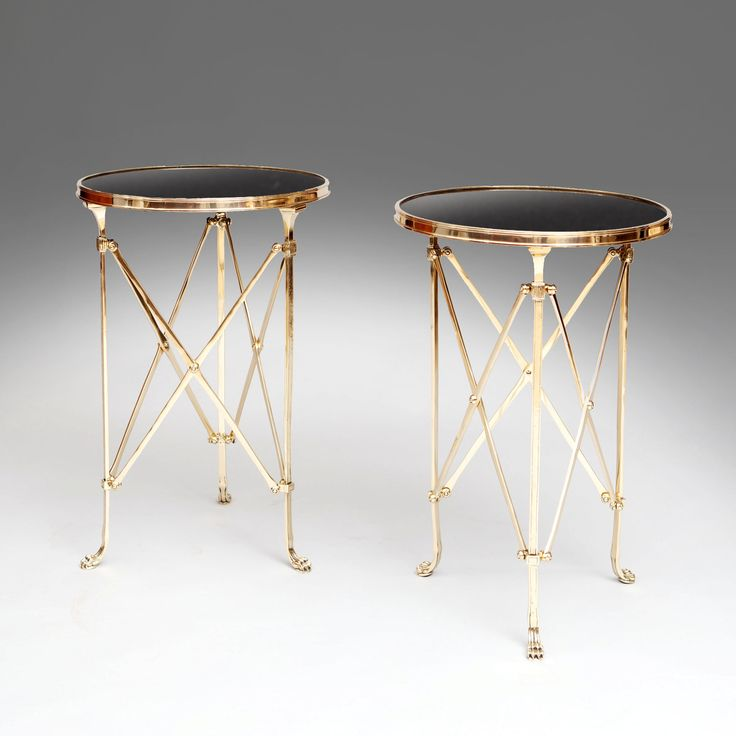 A MAISON JANSEN POLISHED BRASS AND GLASS DRINKS TROLLEY France, c. 1930, from Nicholas Wells, @decorativefair