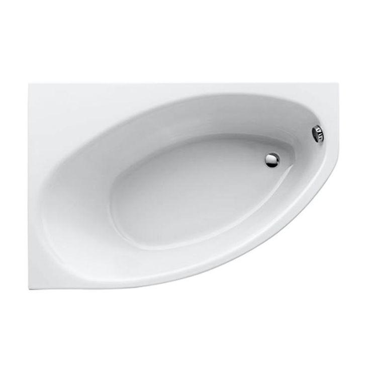 Keramag Renova Nr. 1 Asymmetrische Eck-Badewanne, rechts weiß