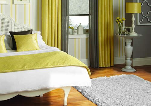 Curtains and cushions, soft furnishings manufactured Rainbow Blinds Trade Suppliers UK