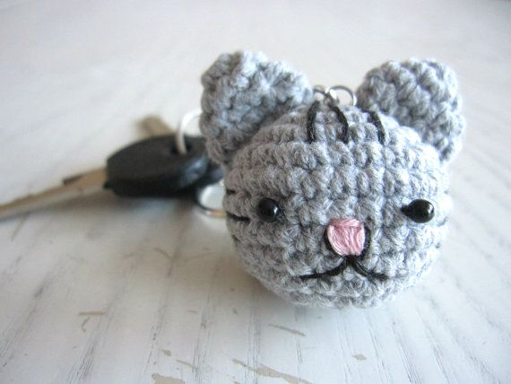 Keyring Amigurumi Cat : 134 best images about Crochet Keychain Animals on ...