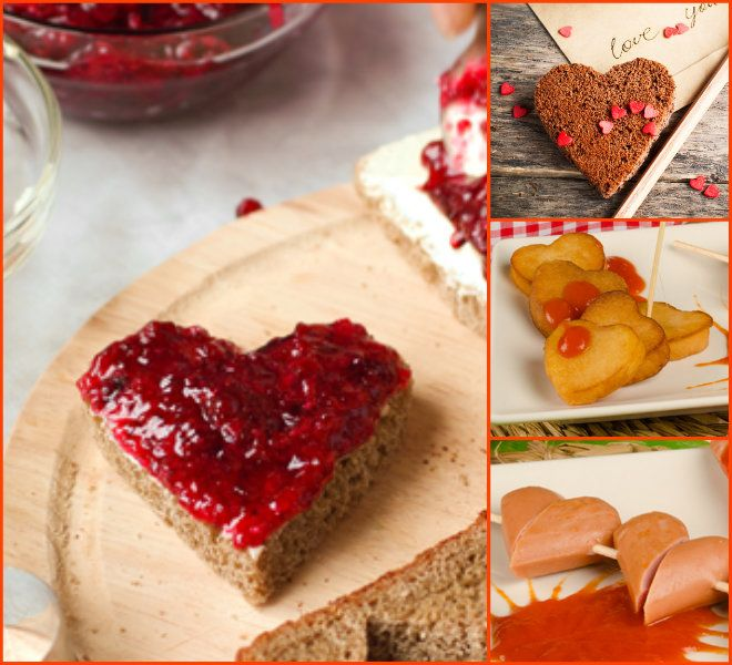 Quick heart-shaped snacks for Valentine's Day with kids!