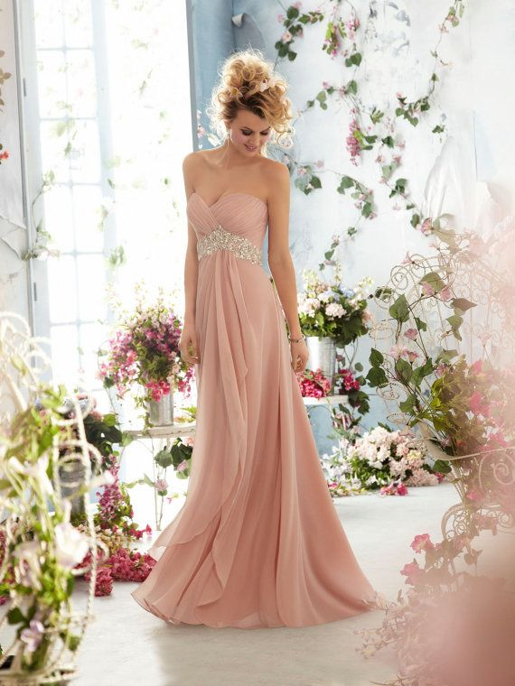 Custom long prom dress/beaded chiffon prom gown/celebrity dress/evening dress/home coming/cocktail/party/ball gown dress/bridesmaid dresses on Etsy, $149.00