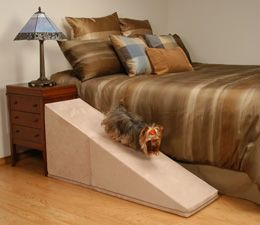 Puppy Stairs ramps help prevent injury for dogs and cats that are small, old, handicapped or prone to back problems.