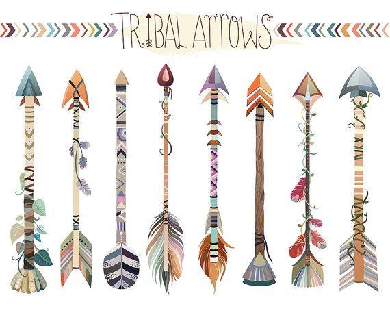 Stammes-Arrows Clipart  Set Vektor PNG und JPG-Dateien