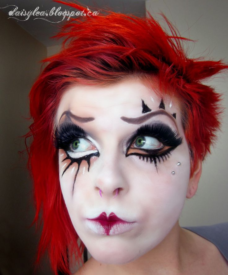 images for scary female clown makeup off beat circus pinterest clown makeup clowns and. Black Bedroom Furniture Sets. Home Design Ideas