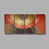 pronto+para+pendurar+a+pintura+a+óleo+pintados+à+mão+4+peças+de+arte+da+parede+da+lona+esticada+moderno+marrom+dourado+abstrato+–+BRL+R$+233,19