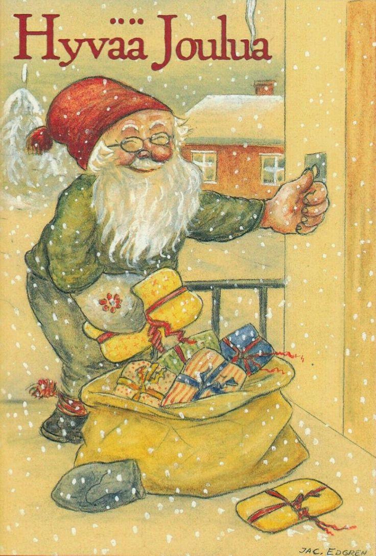 Julkort Jac Edgren finsk txt
