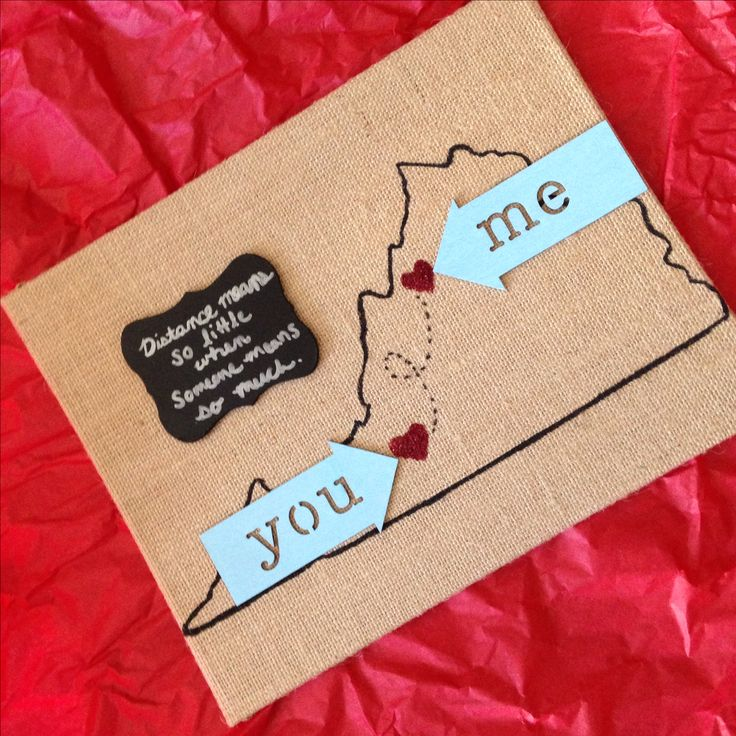I 39 m in a long distance relationship i made this for my for Simple gift for a boyfriend