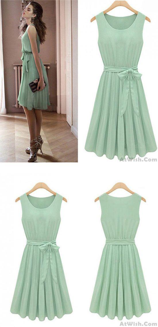 New Fashion Mint Green Bat Sleeve Dress for big sale! #green #mint #dress #new #women