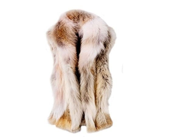 Golden Island Fox Real Fur Vest by naoumaccessories on Etsy, $480.00