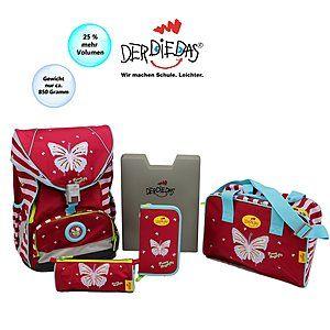 DerDieDas Schulranzen ERGOFLEX XL Funny Butterfly Grundschulrucksack Set #Schulranzen #Ranzen #Schulanfang #Einschulung