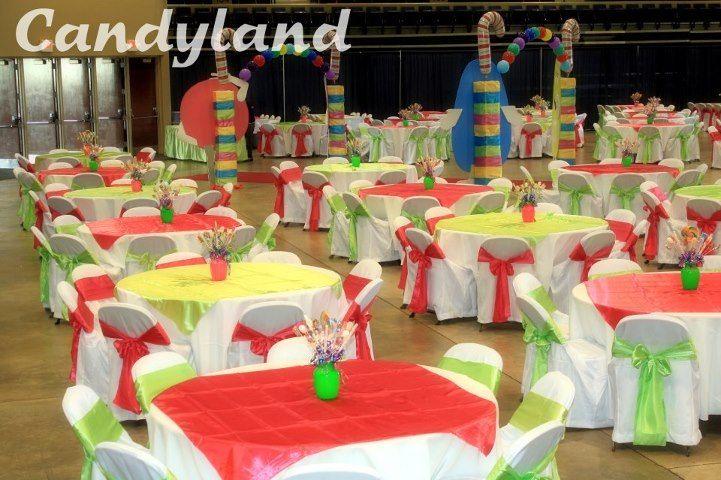 Decoraciones para quinceaneras candy theme photo tema for Decoracion de quinceanera