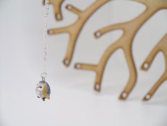 Little Barn Owl Necklace  animal  bird  tiny  by charmingcreatures, £22.00