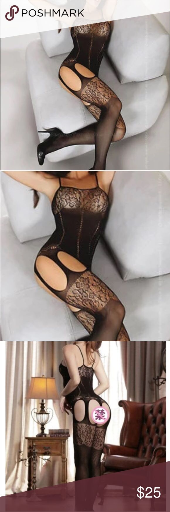 Black sexy body stocking New. Xs/s/m Intimates & Sleepwear Shapewear