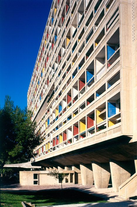 Le Corbusier's first Unité d'Habitation is arguably the most influential Brutalist building of all time #architecture